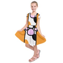 Cathand Orange Kids  Short Sleeve Dress