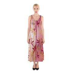 Bamboo Tree New Year Red Sleeveless Maxi Dress