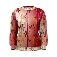 Bamboo Tree New Year Red Women s Sweatshirt