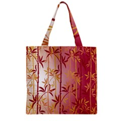 Bamboo Tree New Year Red Zipper Grocery Tote Bag