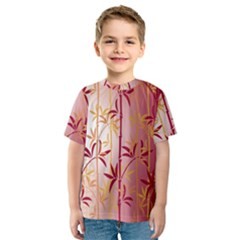 Bamboo Tree New Year Red Kids  Sport Mesh Tee