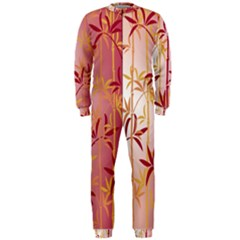 Bamboo Tree New Year Red OnePiece Jumpsuit (Men)