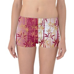 Bamboo Tree New Year Red Boyleg Bikini Bottoms