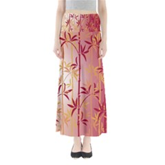 Bamboo Tree New Year Red Maxi Skirts
