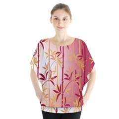 Bamboo Tree New Year Red Blouse
