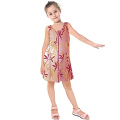 Bamboo Tree New Year Red Kids  Sleeveless Dress