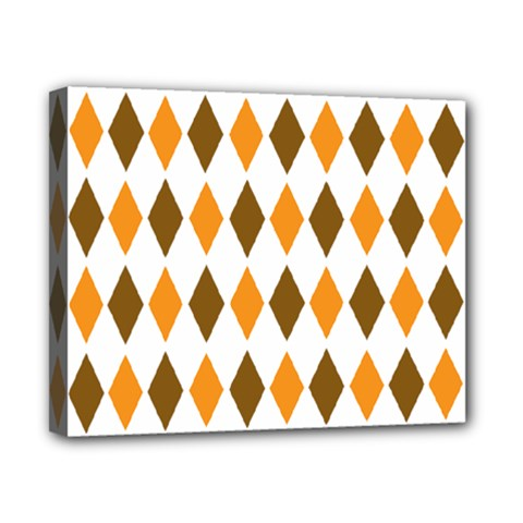 Brown Orange Retro Diamond Copy Canvas 10  x 8
