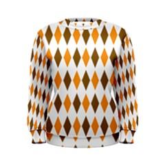 Brown Orange Retro Diamond Copy Women s Sweatshirt