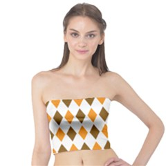 Brown Orange Retro Diamond Copy Tube Top