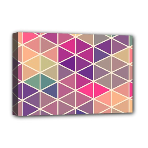 Chevron Colorful Deluxe Canvas 18  x 12