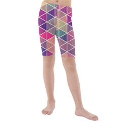 Chevron Colorful Kids  Mid Length Swim Shorts