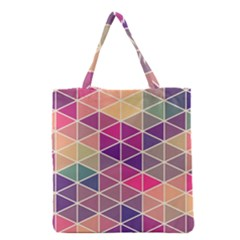 Chevron Colorful Grocery Tote Bag