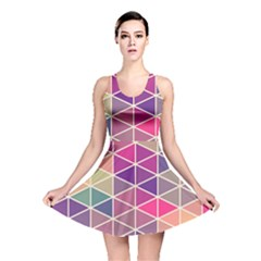 Chevron Colorful Reversible Skater Dress