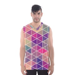 Chevron Colorful Men s Basketball Tank Top