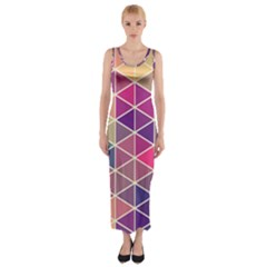 Chevron Colorful Fitted Maxi Dress