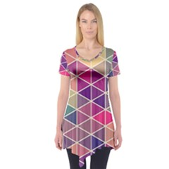 Chevron Colorful Short Sleeve Tunic