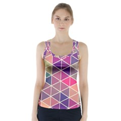 Chevron Colorful Racer Back Sports Top