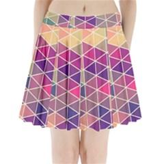 Chevron Colorful Pleated Mini Skirt