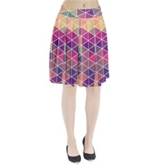 Chevron Colorful Pleated Skirt