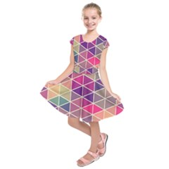 Chevron Colorful Kids  Short Sleeve Dress