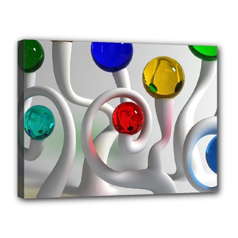 Colorful Glass Balls Canvas 16  x 12