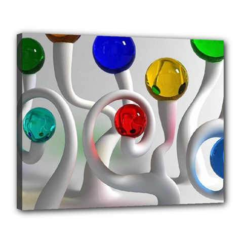 Colorful Glass Balls Canvas 20  x 16