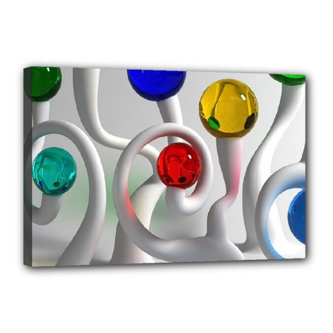 Colorful Glass Balls Canvas 18  x 12