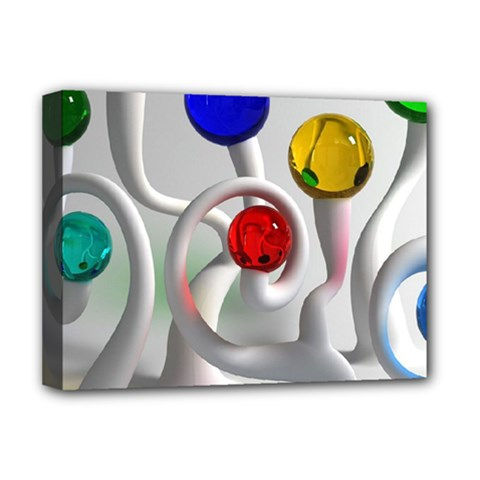 Colorful Glass Balls Deluxe Canvas 16  x 12