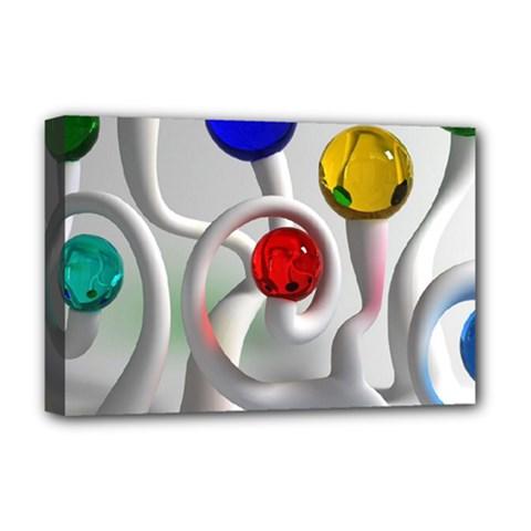 Colorful Glass Balls Deluxe Canvas 18  X 12
