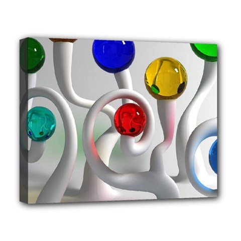Colorful Glass Balls Deluxe Canvas 20  x 16