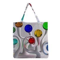 Colorful Glass Balls Grocery Tote Bag