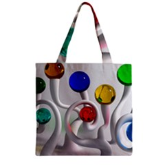 Colorful Glass Balls Zipper Grocery Tote Bag