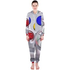 Colorful Glass Balls Hooded Jumpsuit (Ladies)