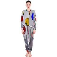 Colorful Glass Balls OnePiece Jumpsuit (Ladies)