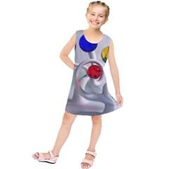 Colorful Glass Balls Kids  Tunic Dress