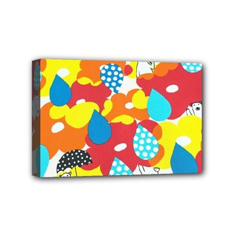 Bear Umbrella Mini Canvas 6  x 4