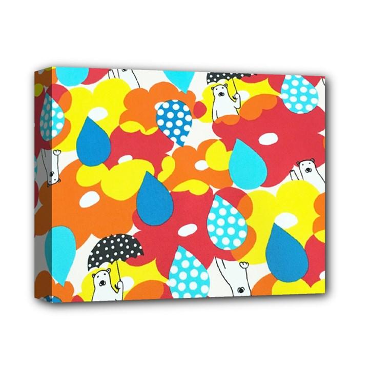 Bear Umbrella Deluxe Canvas 14  x 11