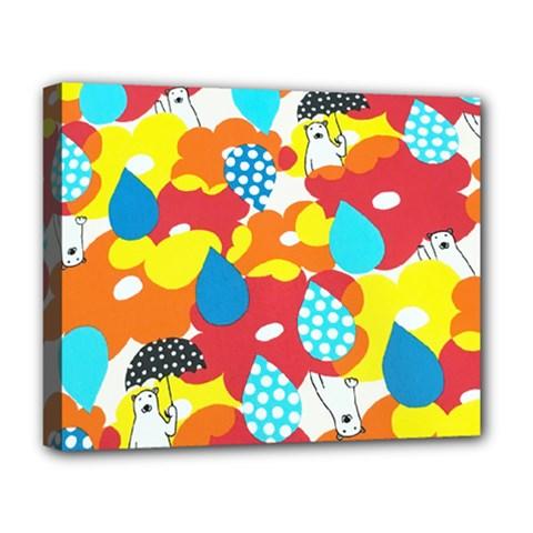 Bear Umbrella Deluxe Canvas 20  X 16