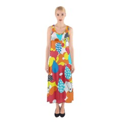 Bear Umbrella Sleeveless Maxi Dress