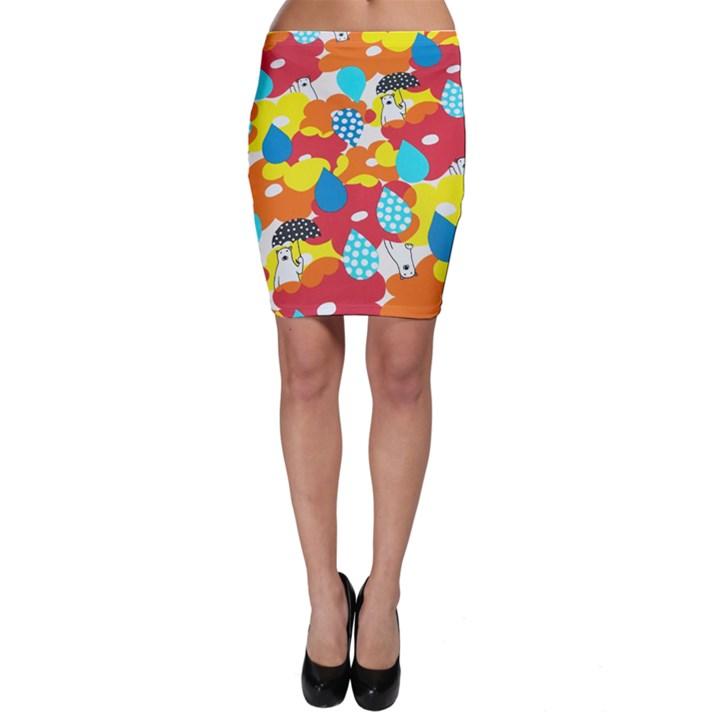 Bear Umbrella Bodycon Skirt