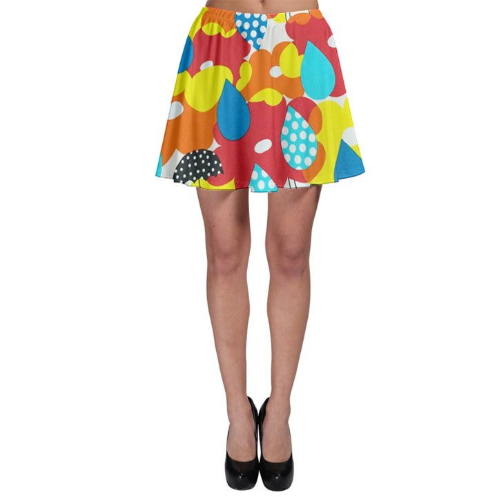 Bear Umbrella Skater Skirt