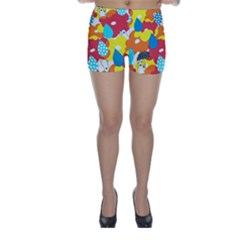 Bear Umbrella Skinny Shorts