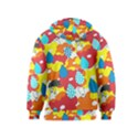 Bear Umbrella Kids  Pullover Hoodie View2
