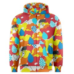 Bear Umbrella Men s Zipper Hoodie