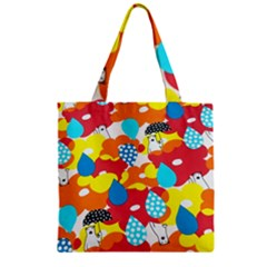 Bear Umbrella Zipper Grocery Tote Bag