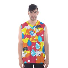 Bear Umbrella Men s Basketball Tank Top
