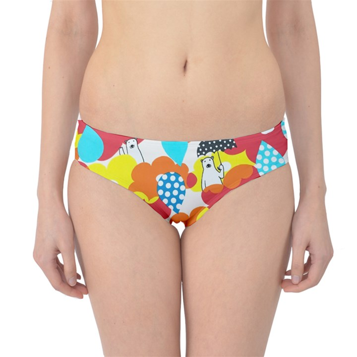 Bear Umbrella Hipster Bikini Bottoms