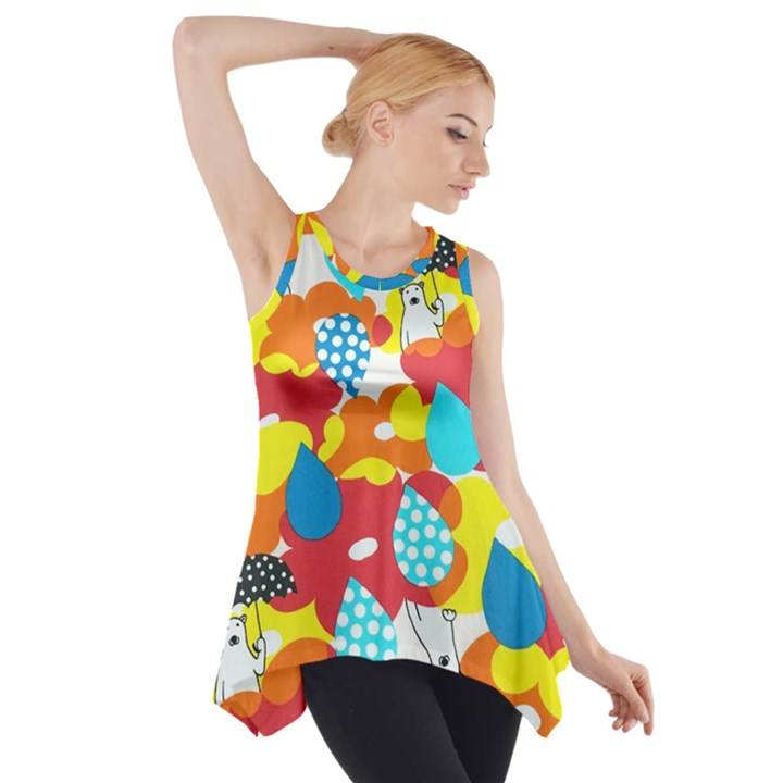Bear Umbrella Side Drop Tank Tunic