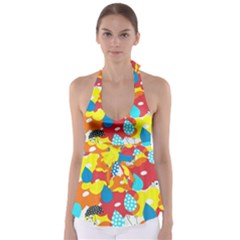Bear Umbrella Babydoll Tankini Top