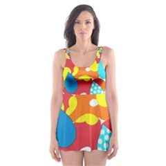 Bear Umbrella Skater Dress Swimsuit